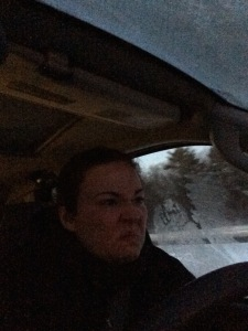 This is me driving this morning. I am thrilled.