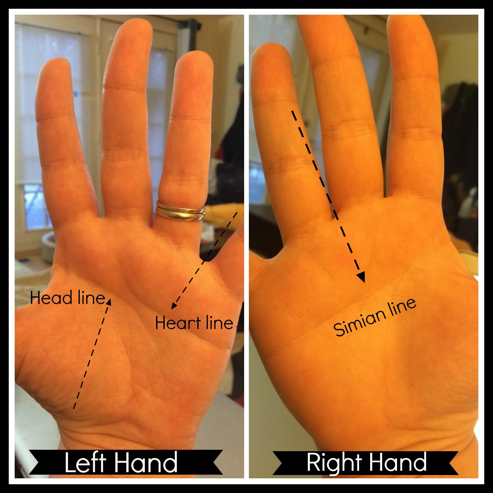 Simian line palmistry tony blair tony bliar - Right Hand Simian Line