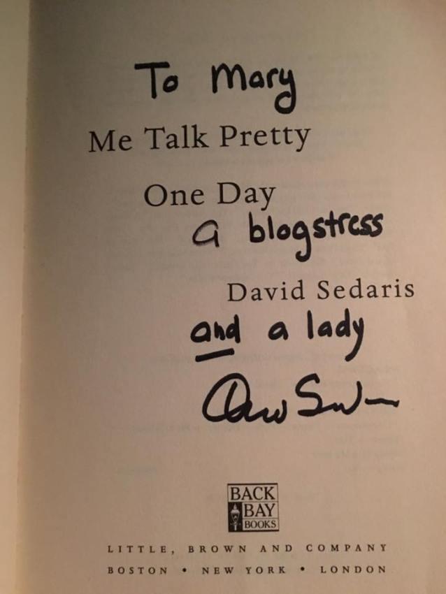 David Sedaris autograph